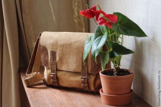 """Мужские сумки ручной работы. Ярмарка Мастеров - ручная работа. Купить Сумка """"Авиа"""". Handmade. Коричневый, сумка на каждый день"""