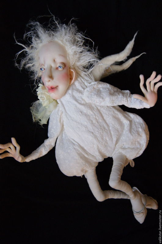 Коллекционные куклы ручной работы. Ярмарка Мастеров - ручная работа. Купить Ангел. Handmade. Белый, ангел-хранитель, шерсть