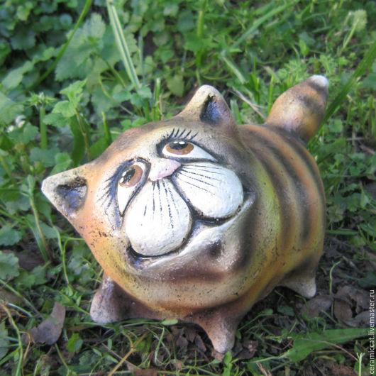 """Экстерьер и дача ручной работы. Ярмарка Мастеров - ручная работа. Купить Кот """"Фагот"""". Handmade. Разноцветный, глина, коты"""