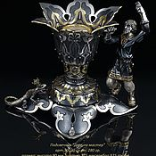 Для дома и интерьера handmade. Livemaster - original item Silver candlestick Danila master. Handmade.