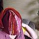 """Шапки ручной работы. Женская шапка """"Осенняя рапсодия"""". Тиа. Интернет-магазин Ярмарка Мастеров. Мериносовая шерсть, шапка женская"""