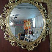 """Для дома и интерьера ручной работы. Ярмарка Мастеров - ручная работа Зеркало в круглой декоративной резной  раме """"Изабель"""". Handmade."""