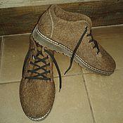Обувь ручной работы. Ярмарка Мастеров - ручная работа Туфли валяные мужские .. Handmade.