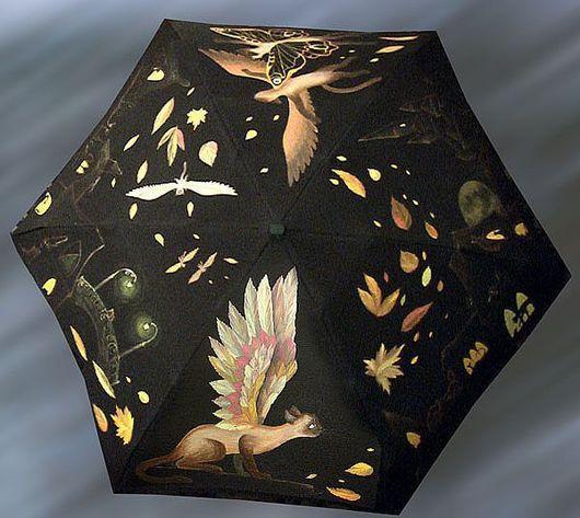 Зонты ручной работы. Ярмарка Мастеров - ручная работа. Купить Сиамский зонтик. Handmade. Осенняя мода, зонт, полет