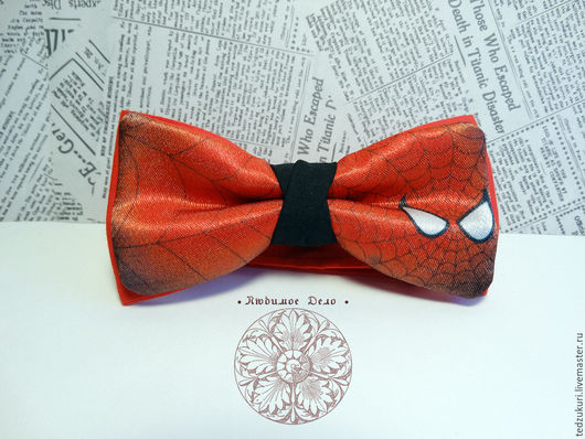 Галстуки, бабочки ручной работы. Ярмарка Мастеров - ручная работа. Купить Галстук-бабочка Человек-паук/ Marvel/ / супергерой/ Spider-Man. Handmade.