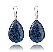 Украшения handmade. Livemaster - original item Earrings dark blue elegant gift