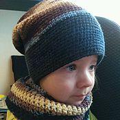 Работы для детей, ручной работы. Ярмарка Мастеров - ручная работа Комплект шапка-бини и снуд. Handmade.