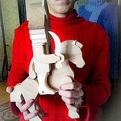 Мягкие игрушки ручной работы. Ярмарка Мастеров - ручная работа Щелкунчик для росписи. Handmade.