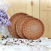 Посуда ручной работы. Ярмарка Мастеров - ручная работа Набор плетеных тарелок Три орешка, настенные тарелки. Handmade.