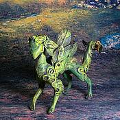 """Для дома и интерьера ручной работы. Ярмарка Мастеров - ручная работа статуэтка """"Дракон леса"""" фигурка лесной драконзеленый дракончик. Handmade."""