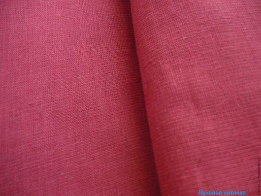 Шитье ручной работы. Ярмарка Мастеров - ручная работа. Купить Ткань лён Темно-красный. Handmade. Бордовый, темно-красный
