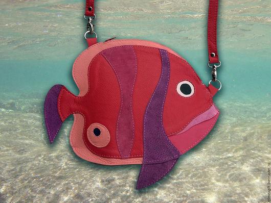 """Детские аксессуары ручной работы. Ярмарка Мастеров - ручная работа. Купить """"Рыбка коралловых рифов"""" - красная. Handmade. Рыбка, рыба"""