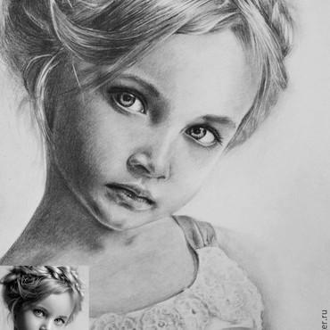 Картины и панно ручной работы. Ярмарка Мастеров - ручная работа Портрет карандашом по фото. Handmade.