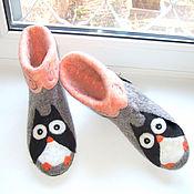 """Обувь ручной работы. Ярмарка Мастеров - ручная работа валеночки домашние"""" Совы"""". Handmade."""
