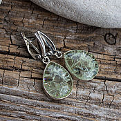 Украшения handmade. Livemaster - original item earrings quartz