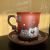 handmade. Livemaster - original item Ceramic decorative vase handmade: Curious cats. Handmade.