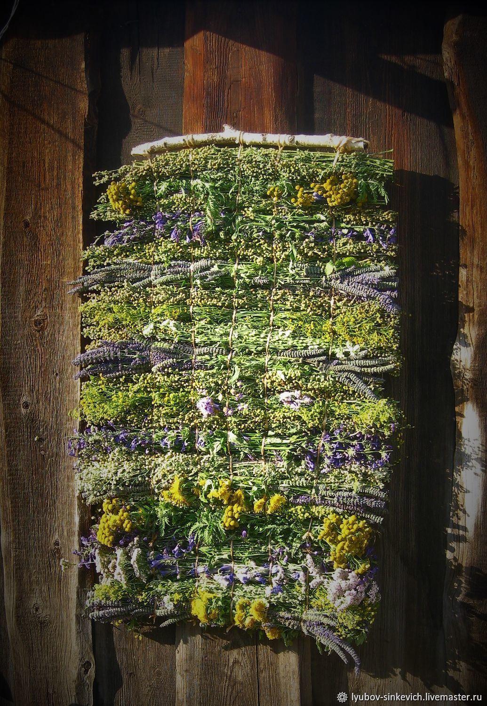Элементы интерьера ручной работы. Ярмарка Мастеров - ручная работа. Купить Витражи: Коврик на стену из ароматных луговых (лекарственных) трав. Handmade.