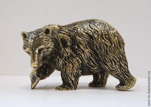 """Миниатюра ручной работы. Ярмарка Мастеров - ручная работа. Купить Статуэтка """"Медведь идущий"""". Handmade. Медведь, охота, подарок мужчине"""