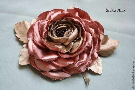 """Цветы ручной работы. Ярмарка Мастеров - ручная работа. Купить Брошь из ткани """"Мечта"""". Handmade. Цветок, брошь цветок, атлас"""