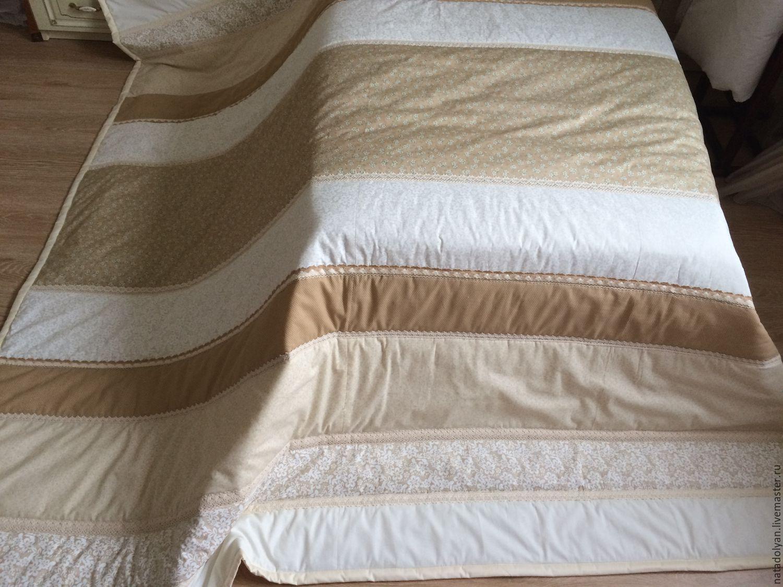 Bedspread cotton ' Beige Fleur ', Blankets, Ivanovo,  Фото №1