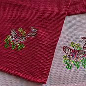 Для дома и интерьера handmade. Livemaster - original item Waffle towels with embroidery. Handmade.