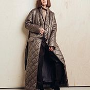 Одежда handmade. Livemaster - original item Insulated coat with buttons. Handmade.