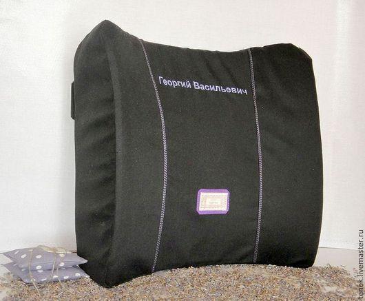 Подарок водителю, подарок коллеге - ортопедическая подушка под спину