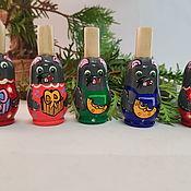 Народные сувениры ручной работы. Ярмарка Мастеров - ручная работа Свистульки крыски символ Нового года. Handmade.