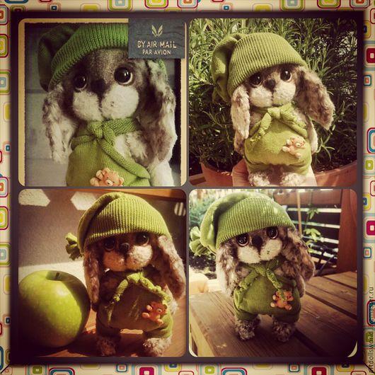 Мишки Тедди ручной работы. Ярмарка Мастеров - ручная работа. Купить Тедди зайчонок Жан Жак, авторский тедди. Handmade.