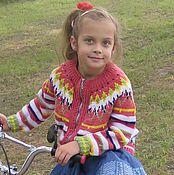 Работы для детей, handmade. Livemaster - original item Knitted children`s jacket