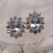 Украшения handmade. Livemaster - original item Silver earrings with aquamarine.. Handmade.