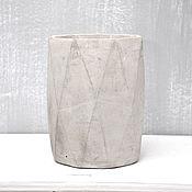 Для дома и интерьера handmade. Livemaster - original item Vases: Concrete vase Loft faces to the interior in the style Minimalism. Handmade.