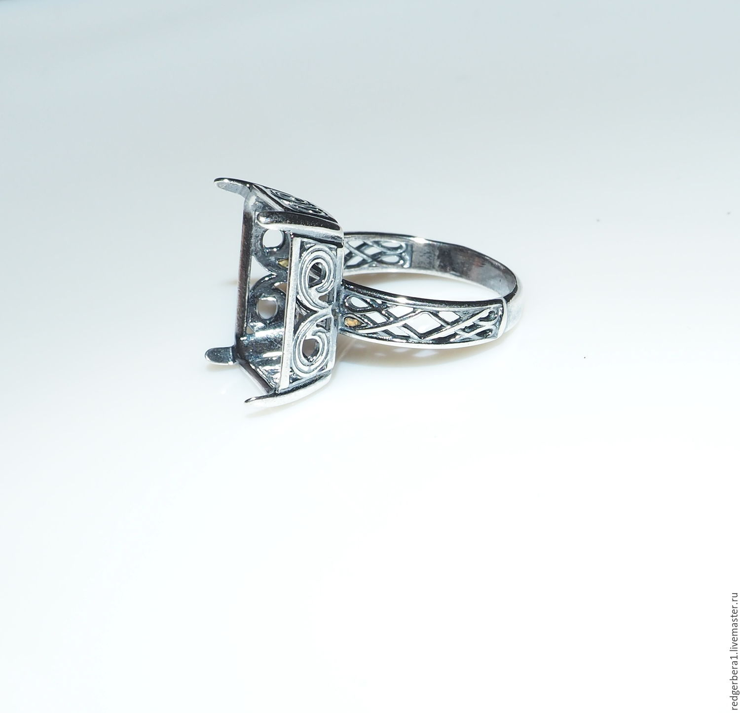 """The basis for the ring """"Tina"""" 16 h12 silver 925 – shop online on"""