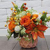Композиции ручной работы. Ярмарка Мастеров - ручная работа Композиции: Оранжевое утро. Handmade.