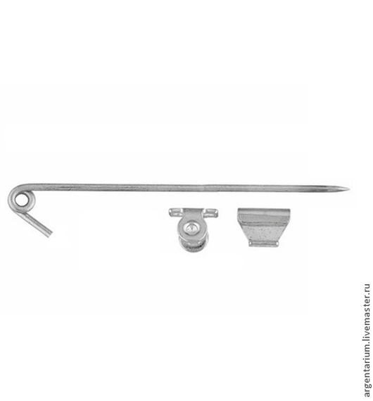 Для украшений ручной работы. Ярмарка Мастеров - ручная работа. Купить Серебряная основа для броши 55мм, 990 проба. Handmade.
