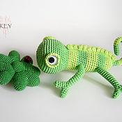Куклы и игрушки ручной работы. Ярмарка Мастеров - ручная работа Хамелеон Геша. Handmade.