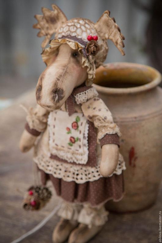 Куклы Тильды ручной работы. Ярмарка Мастеров - ручная работа. Купить Ремейк лосишки Рахель. Handmade. Коричневый