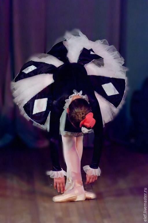 """Танцевальные костюмы ручной работы. Ярмарка Мастеров - ручная работа. Купить Балетная пачка """"Коломбина"""". Handmade. Черный, балетная пачка"""