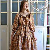 Одежда handmade. Livemaster - original item Long boho style cotton Patterned dress. Handmade.