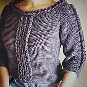 """Одежда ручной работы. Ярмарка Мастеров - ручная работа Пуловер """"Violet"""". Handmade."""