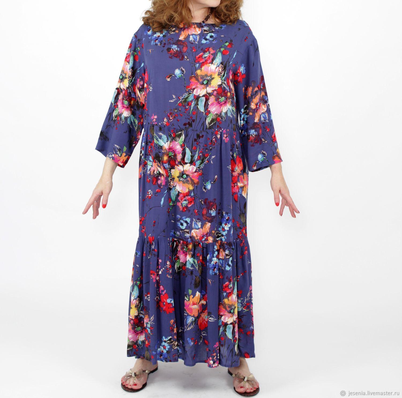 3d5ee43915e Платья ручной работы. Ярмарка Мастеров - ручная работа. Купить Платье бохо  из вискозного штапеля ...