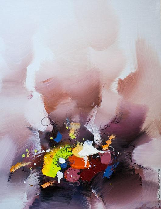 """Абстракция ручной работы. Ярмарка Мастеров - ручная работа. Купить Картина маслом """"Абстракция. Кое-что об эмоциональной саморегуляции N2"""". Handmade."""