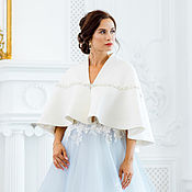 Свадебный салон handmade. Livemaster - original item Copy of Wedding coat, Bridal jacket, Wedding cover up, Gerda 2. Handmade.