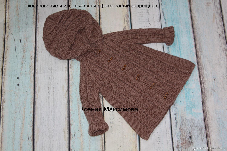 Одежда для девочек, ручной работы. Ярмарка Мастеров - ручная работа. Купить Вязаное пальто для девочки Я - принцесса. Handmade. Осень
