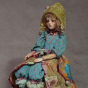 """Куклы и игрушки ручной работы. Ярмарка Мастеров - ручная работа """" Монпасье"""" авторская художественная кукла, кукла-болтушка, диванная к. Handmade."""