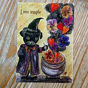 Открытки ручной работы. Ярмарка Мастеров - ручная работа Открытка: Love magic. Handmade.
