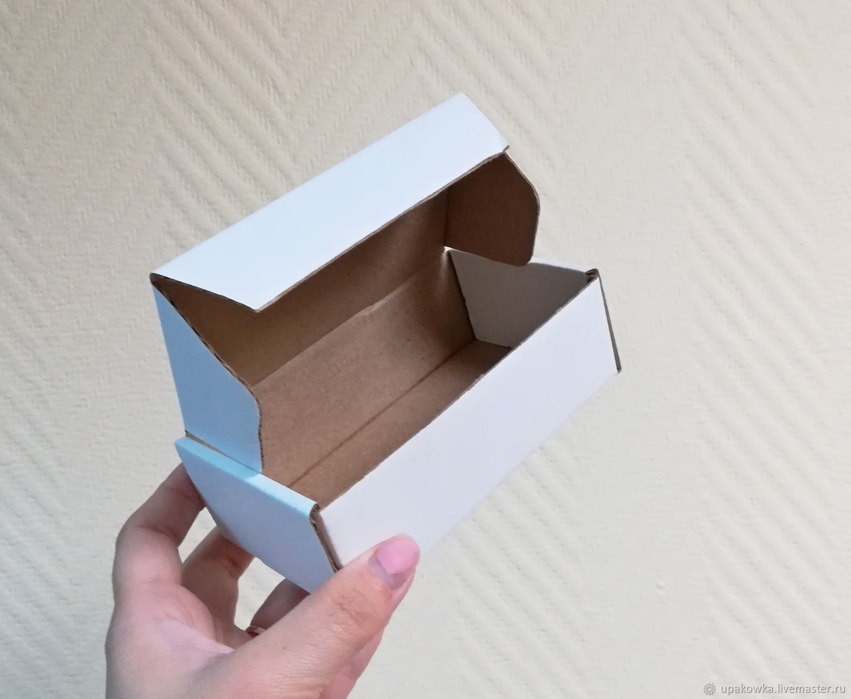 Коробка 12,5х7,5х4 из микрогофрокартона белая, Коробки, Архангельск,  Фото №1