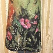 """Одежда ручной работы. Ярмарка Мастеров - ручная работа валяная юбка """" Дикие маки"""". Handmade."""