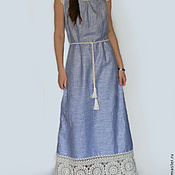 Одежда handmade. Livemaster - original item Linen dress