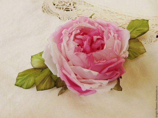 """Цветы ручной работы. Ярмарка Мастеров - ручная работа. Купить Брошь-зажим для волос """"Розовый сон"""".. Handmade. Розовый"""